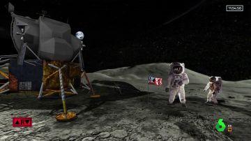 La nave del Apolo 11 aterriza en la superficie lunar de Al Rojo Vivo a través de la realidad aumentada