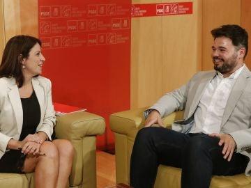 Adriana Lastra y Gabriel Rufián en una imagen de archivo