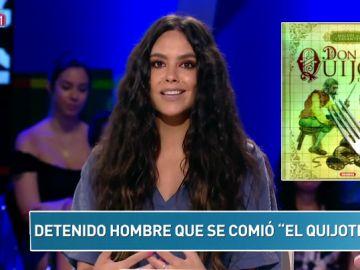 """Un hombre detenido por comerse """"El Quijote"""" y más noticias del Zapcheck de Cristina Pedroche."""