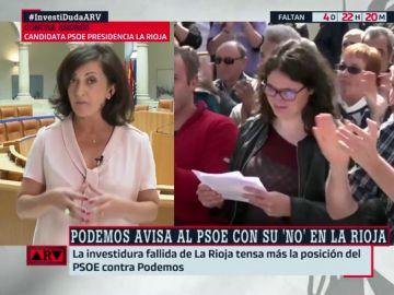 """La candidata socialista en La Rioja ofrece a Podemos """"la gestión de las políticas de igualdad y el reto demográfico"""""""