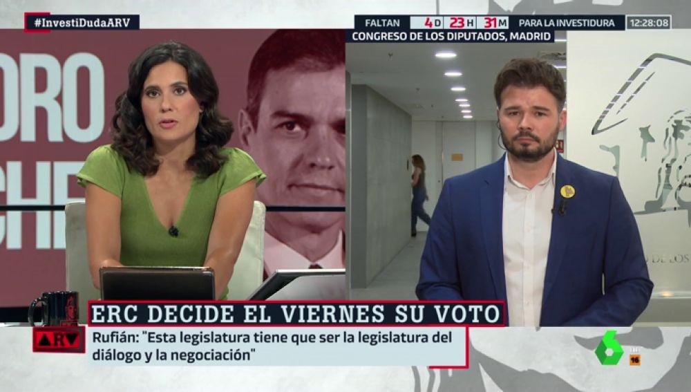 """Gabriel Rufián pide """"responsabilidad"""" a PSOE y Podemos: """"El coste de unas nuevas elecciones lo va a pagar la izquierda"""""""