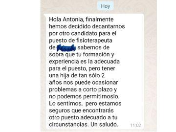 La respuesta del empresario a Antonia