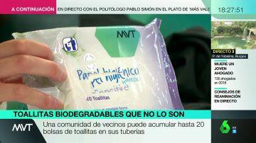 Las toallitas biodegradables que en realidad no lo son.