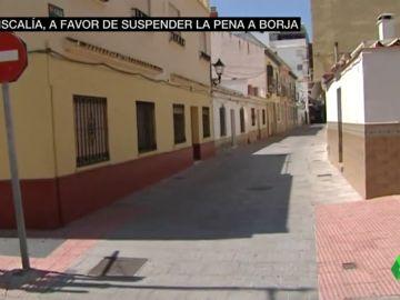Lugar donde Borja atacó al ladrón
