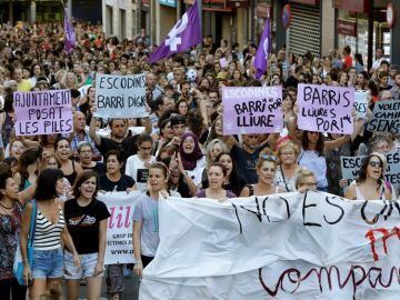 Concentración de repulsa por la agresión sexual en Manresa