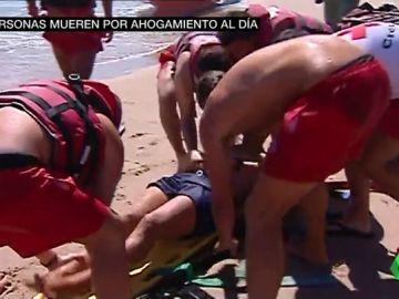 Mueren tres personas al día ahogadas por imprudencias en el mar