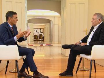 Pedro Sánchez en su entrevista con Antonio García Ferreras