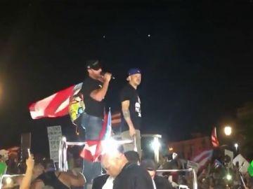 La manifestación contra el gobernador de Puerto Rico en la que participó Ricky Martin y terminó con disturbios
