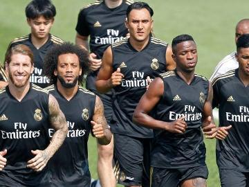 Entrenamiento del Real Madrid en Canadá