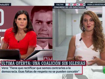"""Noelia Vera (Podemos): """"Tienen un problema personal con Pablo Iglesias, pero nuestras posiciones políticas son compartidas"""""""