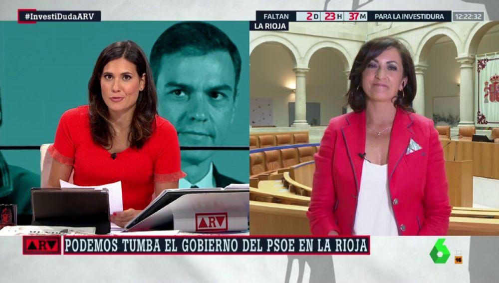 """Concha Andreu (PSOE en La Rioja): """"Hay una propuesta continuada de consejerías, parece que tienen el mensaje de los ministerios duplicado"""""""