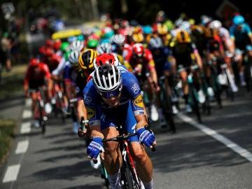 El pelotón, en el Tour de Francia