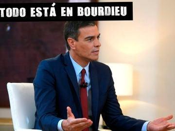 Pedro Sánchez durante la entrevista con Ferreras en Moncloa