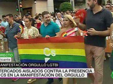Ciudadanos participa en la manifestación del Orgullo en Alicante pese a no estar invitado