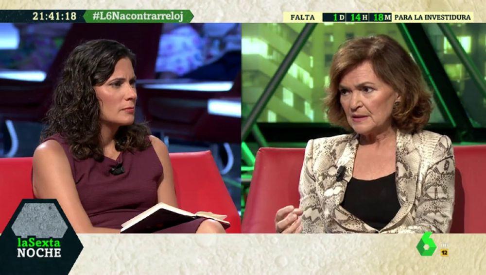 "Carmen Calvo: ""Era previsible que Iglesias no se convirtiera en la pieza que impidiera a Podemos entrar en un Gobierno"""