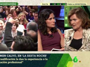 """Carmen Calvo: """"Estamos abiertos a que entren personas de Unidas Podemos en el Gobierno, tienen que hacer propuestas de nombre"""""""
