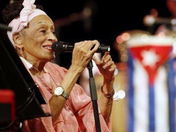 La mítica cantante de jazz cubano Omara Portuondo