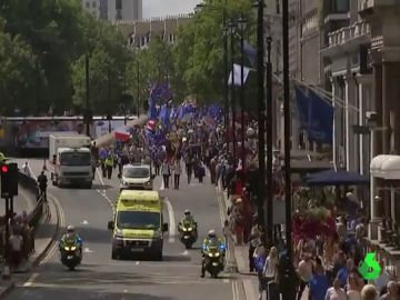 Protesta en Londres contra Boris Johnson y a favor de permanecer en la Unión Europea
