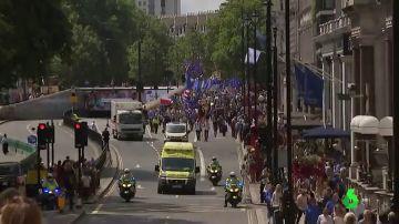 Protesta en Londres contra Boris Johnson y a favor de permanecer en la Unión Europea