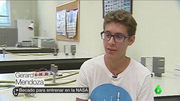 """El sueño espacial de Gerard, becado para aprender a ser astronauta en la NASA: """"Podría llegar a ser el próximo Pedro Duque"""""""