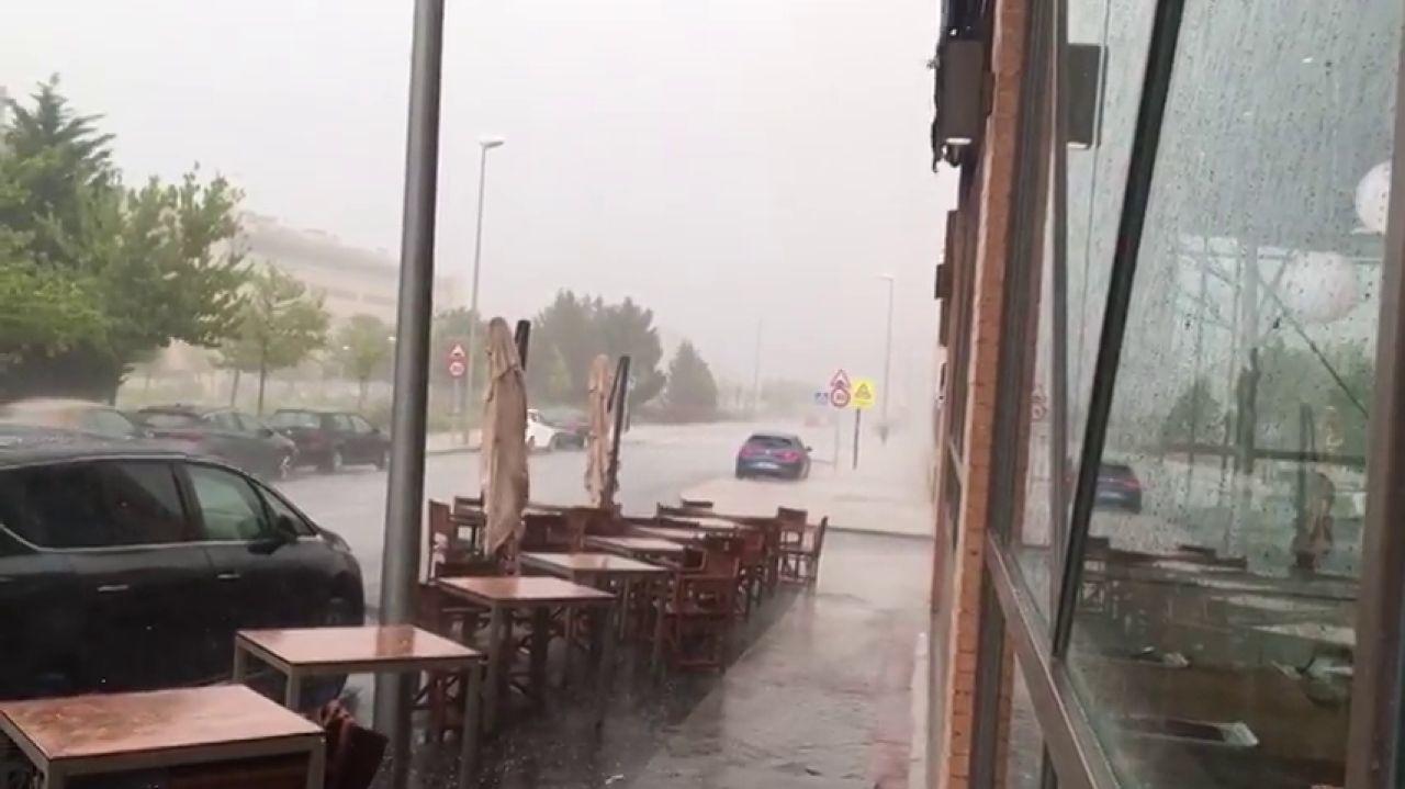 Intensas lluvias mezcladas con granizo sorprenden en la Comunidad de Madrid