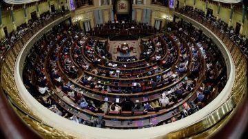 Vista del Congreso de los Diputados durante el debate de investidura de Sánchez