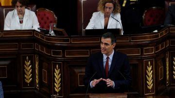 Pedro Sánchez en su investidura