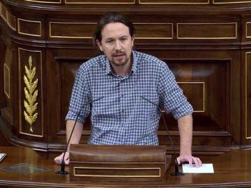 """El dardo de Iglesias a Sánchez: """"Ya le ha pedido la abstención a PP y Ciudadanos, por favor, no se la pida a Vox"""""""