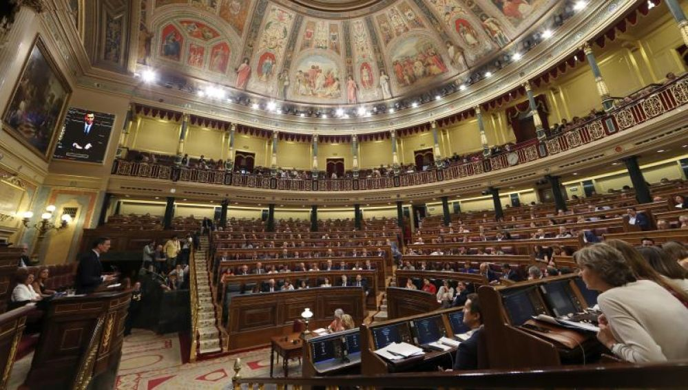 Primera jornada del debate de investidura que afronta el líder socialista, Pedro Sánchez