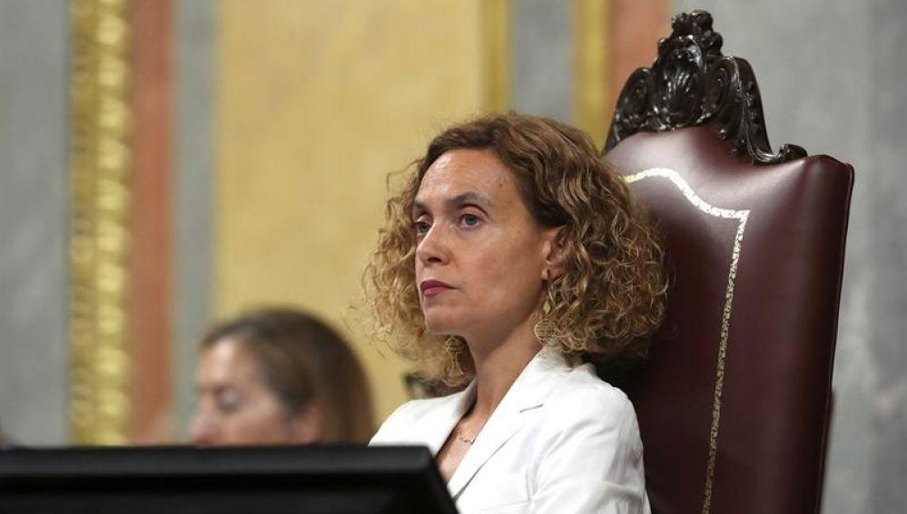 La presidenta del Congreso, Meritxell Batet (PSOE)