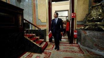 Pedro Sánchez entra en el salón del Congreso de los Diputados