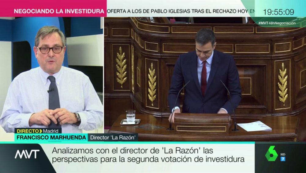"""Francisco Marhuenda: """"Me parece insólito que el PSOE niegue a Podemos una vicepresidencia y cinco ministerios"""""""