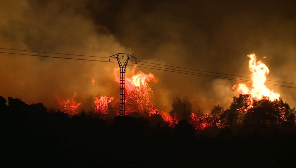Incendio declarado en El Berrueco