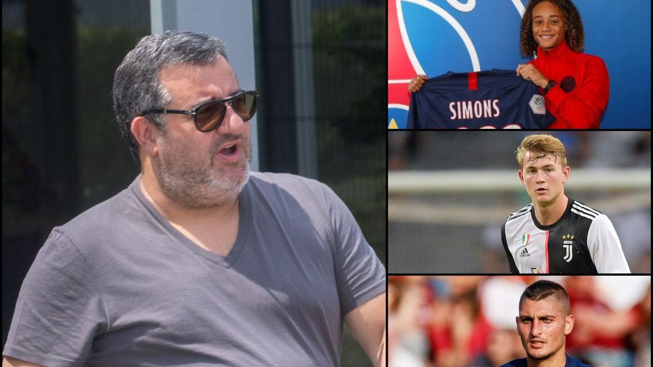 Mino Raiola, Simons, De Ligt y Verratti