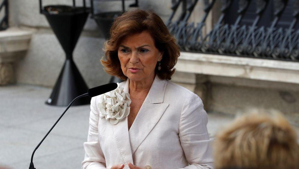 La vicepresidenta en funciones, Carmen Calvo