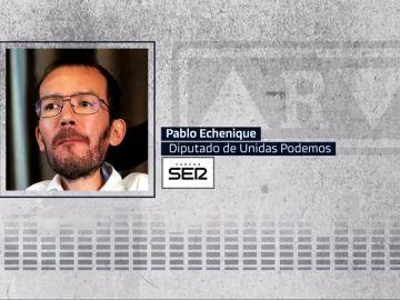 """Echenique confirma que Podemos no votará hoy a favor de Sánchez: """"Aspiramos a que el jueves haya un Gobierno"""""""