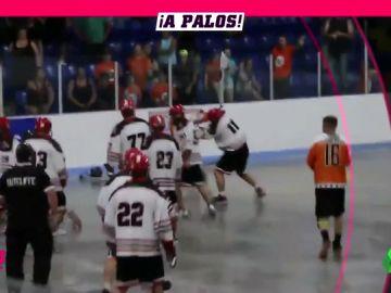 Brutal pelea en un partido de Lacrosse