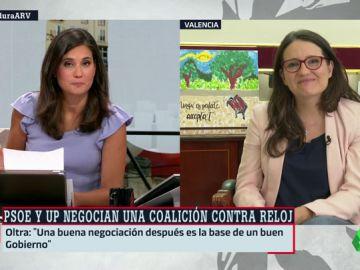 """Mónica Oltra: """"La renuncia de Pablo Iglesias me parece un acto de generosidad política y responsabilidad"""""""