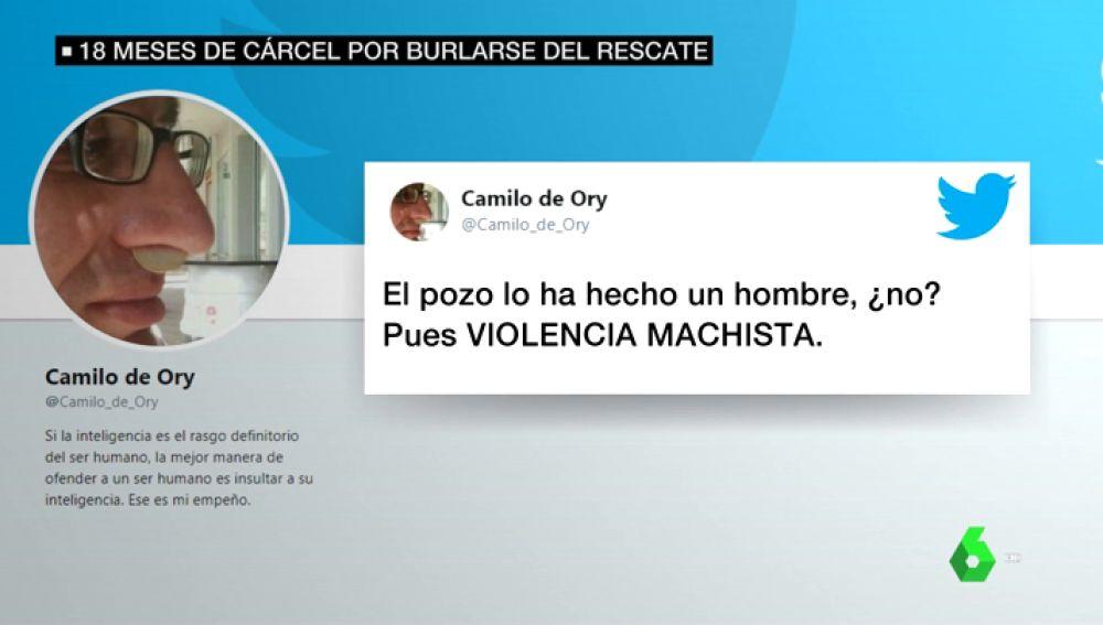 """Los """"humillantes y ofensivos"""" mensajes sobre el caso Julen por los que piden 18 meses de prisión para un tuitero"""