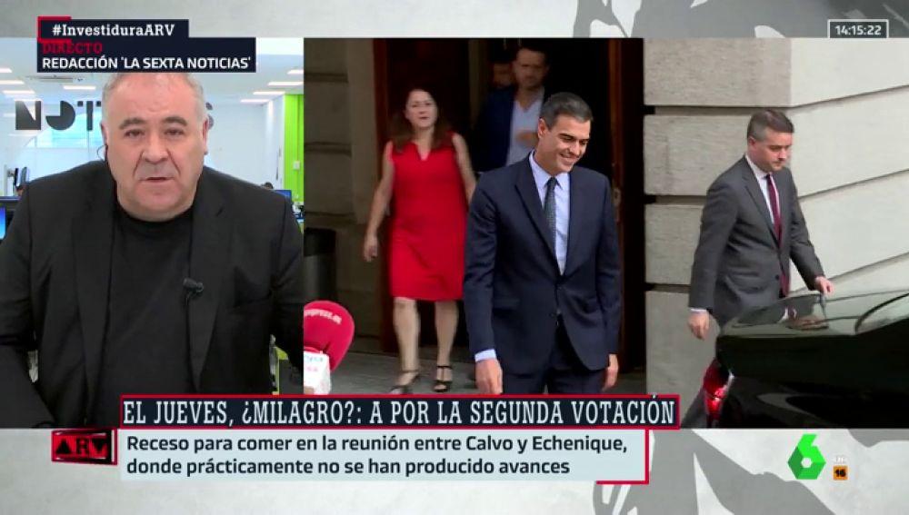 """El análisis de Ferreras: """"El PSOE quiere que Pedro Sánchez sea presidente mañana, pero no tiene miedo a las elecciones"""""""