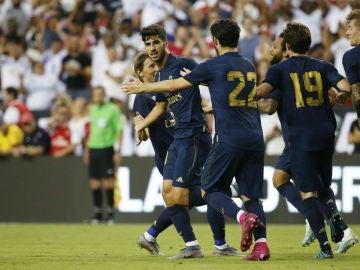Marco Asensio, con el Real Madrid