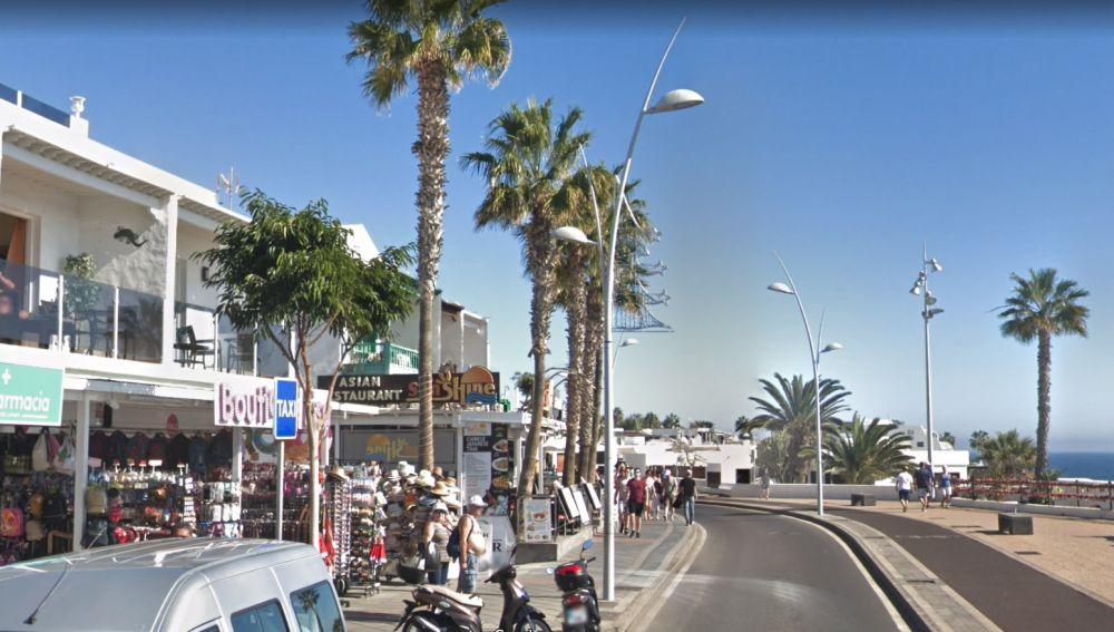 La zona de Puerto del Carmen en la que ocurrieron los hechos