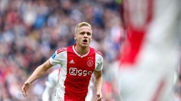 Van de Beek, durante un partido del Ajax