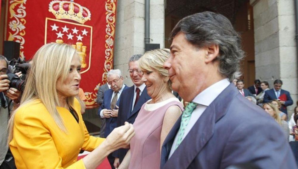 En la foto, Cristina Cifuentes, Esperanza Aguirre e Ignacio González