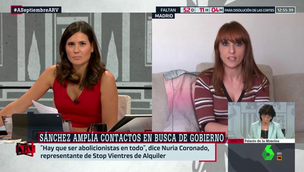 """Nuria Coronado (Stop Vientres de Alquiler): """"Podemos cree que ser prostituida puede ser un trabajo, es un poco incongruente"""""""