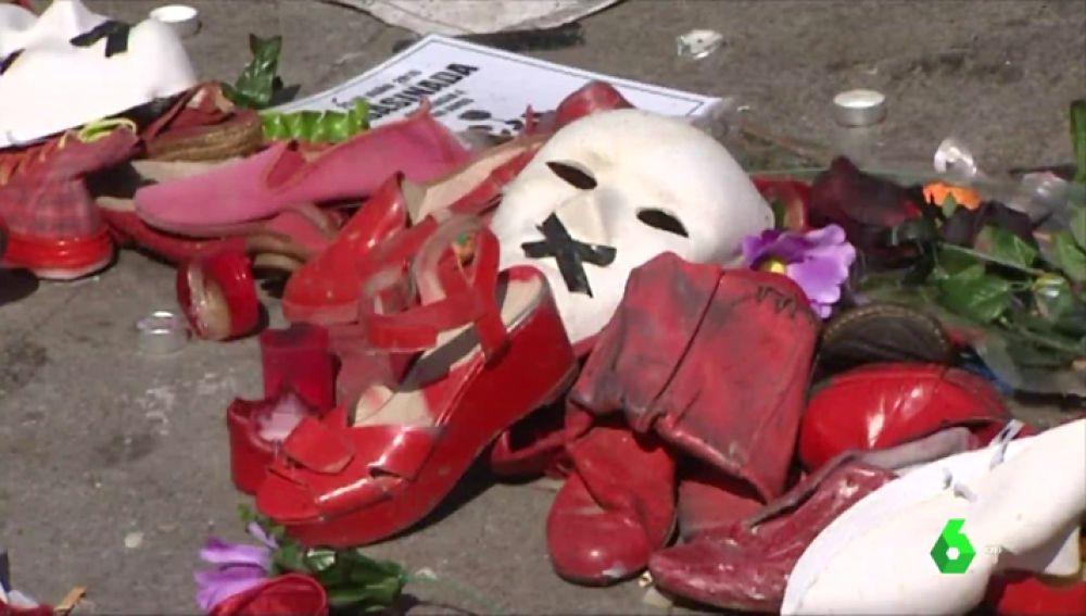 Homenaje a mujeres asesinadas por violencia de género en España