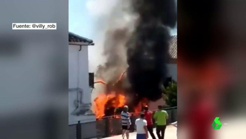 Incendio de un camión en Constantina, Sevilla