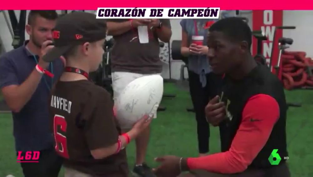 El motivador mensaje de un jugador de la NFL a un niño con su mismo problema cardiaco