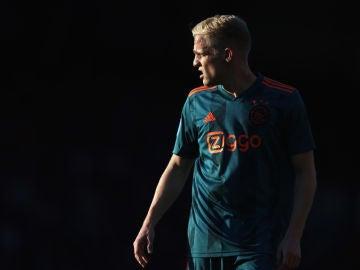 Van de Beek, durante un partido con el Ajax