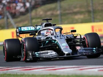Lewis Hamilton, durante el GP de Hungría